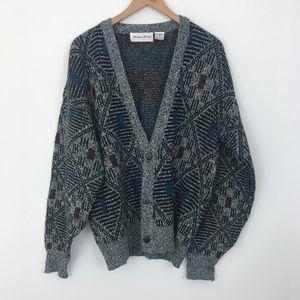 Michael Gerald Vtg Men's Cardigan Grandpa Sweater